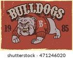 vintage mascot of bulldog   Shutterstock .eps vector #471246020