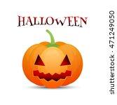 halloween pumpkin jack o lantern | Shutterstock . vector #471249050