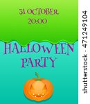 halloween party poster | Shutterstock . vector #471249104