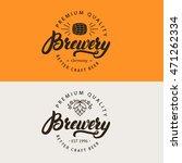 brewery hand written lettering... | Shutterstock .eps vector #471262334