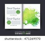 green colors polygonal bi fold... | Shutterstock .eps vector #471269570