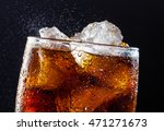 A Cool Glass Of Cola Drink With ...