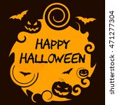 happy halloween showing trick... | Shutterstock . vector #471277304