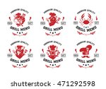 grill menu labels  badges ... | Shutterstock .eps vector #471292598