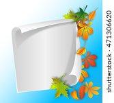 a sheet of paper | Shutterstock . vector #471306620
