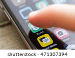 smartphone home screen ... | Shutterstock . vector #471307394