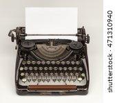 old vintage russian typewriter... | Shutterstock . vector #471310940