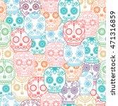 Sugar Skull Seamless Pattern....