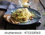 Pasta Carbonara. Spaghetti With ...