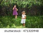 the children happy outdoors in... | Shutterstock . vector #471320948