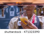 barman or bartender pouring a... | Shutterstock . vector #471323390
