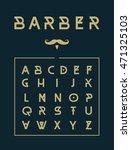 barber stylish typeface poster.   Shutterstock .eps vector #471325103