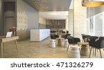 Stock photo  d rendering luxury hotel reception and lounge 471326279