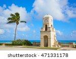 palm beach worth avenue clock... | Shutterstock . vector #471331178