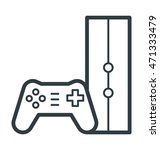 gamepad vector icon | Shutterstock .eps vector #471333479