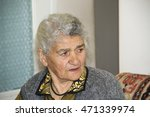 portrait of pensioner with sad... | Shutterstock . vector #471339974