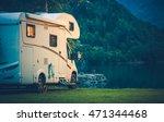 Camper Camping At The Glacier...