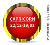 capricorn icon. internet button....