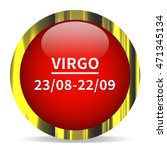 virgo icon. internet button.3d...