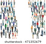 two groups crowds  diversity ... | Shutterstock . vector #471352679
