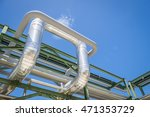 chemical pipe line transfer on... | Shutterstock . vector #471353729