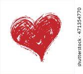 vector grunge heart  valentine... | Shutterstock .eps vector #471354770