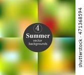 set of summer gradient mesh.... | Shutterstock .eps vector #471368594