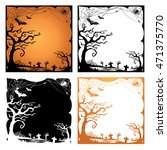 set of halloween border and... | Shutterstock .eps vector #471375770