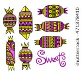 sweet candies set. colorful... | Shutterstock .eps vector #471378410