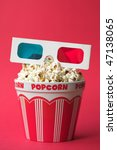 3d glasses on top of a bucket... | Shutterstock . vector #47138065