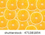 slice of fresh orange for... | Shutterstock . vector #471381854