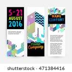 banners set  trendy geometric... | Shutterstock .eps vector #471384416