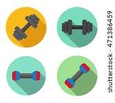 gym  training  dumbbell icons... | Shutterstock .eps vector #471386459