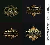 luxury logo set | Shutterstock .eps vector #471391838
