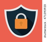 padlock shield cyber security... | Shutterstock .eps vector #471393920