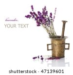lavender and antique mortar... | Shutterstock . vector #47139601