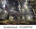 3d rendering of tyrannosaurus... | Shutterstock . vector #471399794