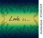tree leaves frame on green... | Shutterstock .eps vector #471401429
