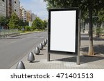 blank advertisement in the... | Shutterstock . vector #471401513