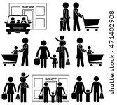 family shopping  store  ... | Shutterstock .eps vector #471402908