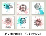 set of cards with sacred...