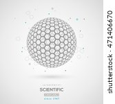 3d abstract sphere  fullerene.... | Shutterstock .eps vector #471406670
