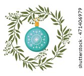 merry christmas wreath... | Shutterstock .eps vector #471406979