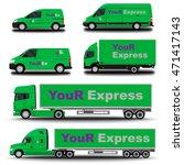 vehicles set. cargo truck and... | Shutterstock .eps vector #471417143