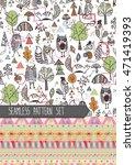 set of autumn patterns   Shutterstock .eps vector #471419393
