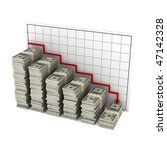 stacks of hundred dollar bills... | Shutterstock . vector #47142328