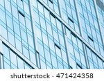 fragment view of glass wall in... | Shutterstock . vector #471424358