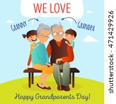 grandparents day vector concept.... | Shutterstock .eps vector #471429926