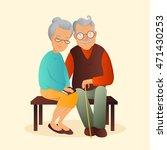 old couple vector illustration. ...   Shutterstock .eps vector #471430253