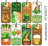 price tags for the st. patrick... | Shutterstock .eps vector #47143177